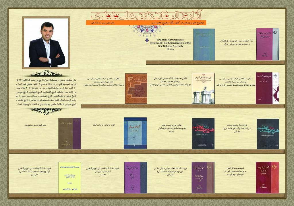 اینفوگرافی آثار و تألیفات دکتر علی ططری